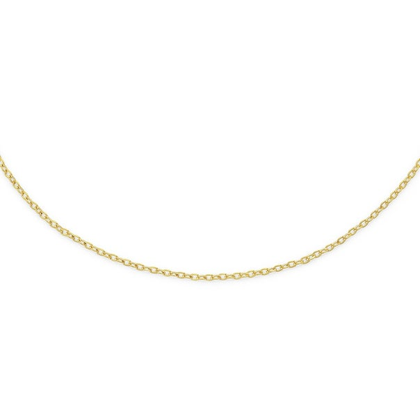 9ct 45cm Solid Twisted Cable Chain