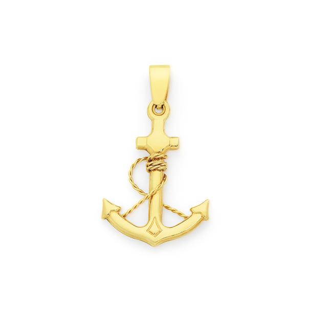 9ct Anchor Pendant