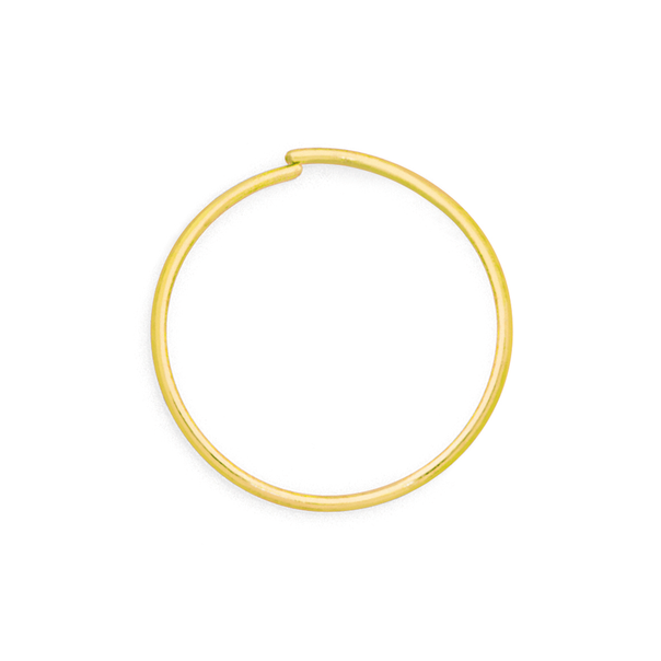 9ct Gold 0.4x8mm Nose Ring