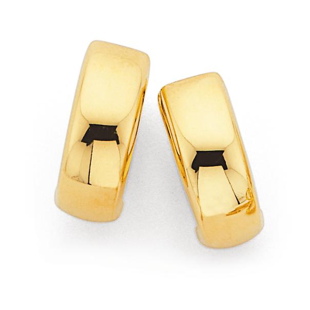 9ct Gold 10mm Huggie Earrings