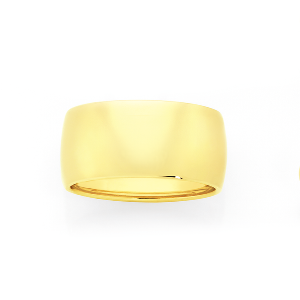 9ct Gold 10mm Wide Ring