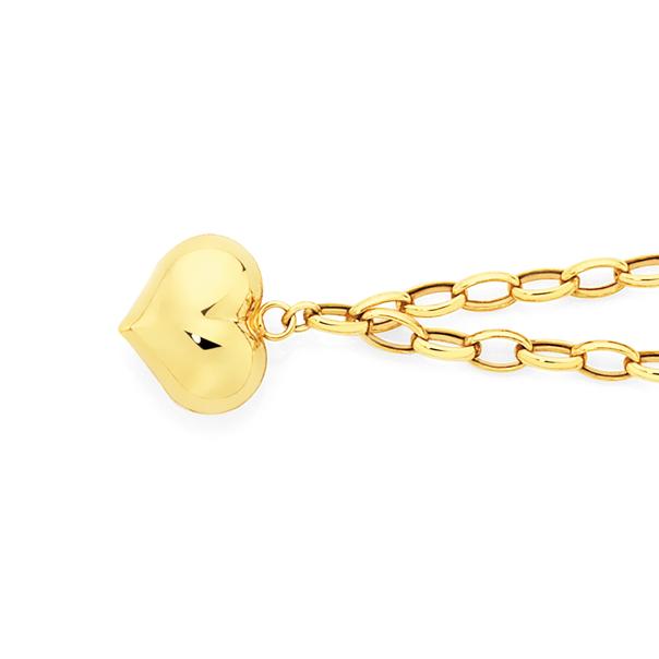 9ct Gold 18.5cm Hollow Belcher Bracelet