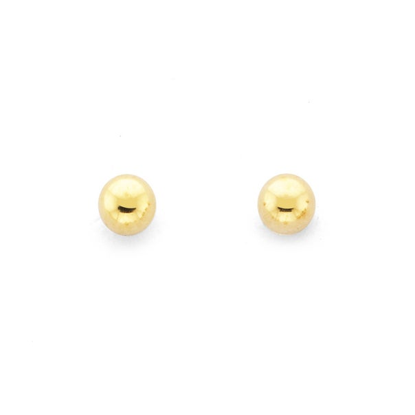 9ct Gold 2.5mm Polished Ball Stud Earrings