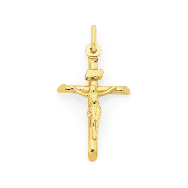 9ct Gold 26mm Crucifix Pendant