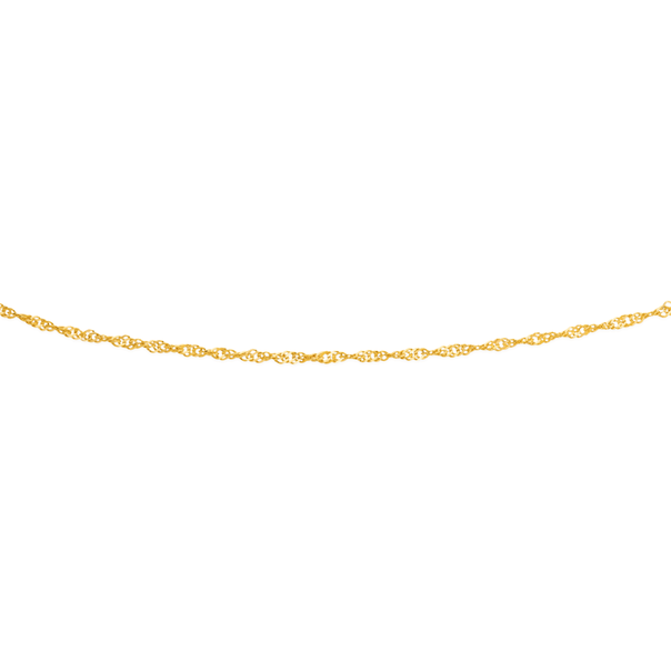 9ct Gold 27cm Solid Singapore Anklet