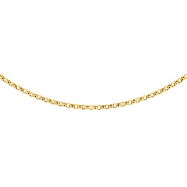9ct Gold 45cm Hollow Belcher Chain
