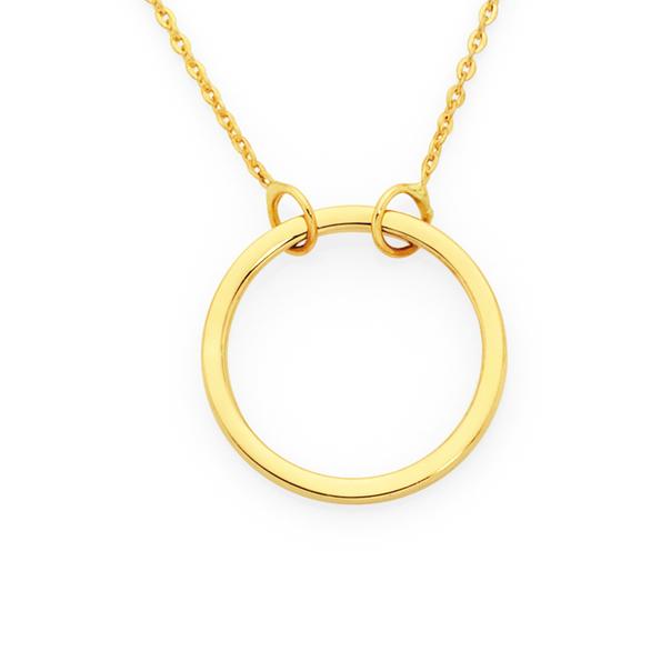 9ct Gold 45cm Open Circle Necklet