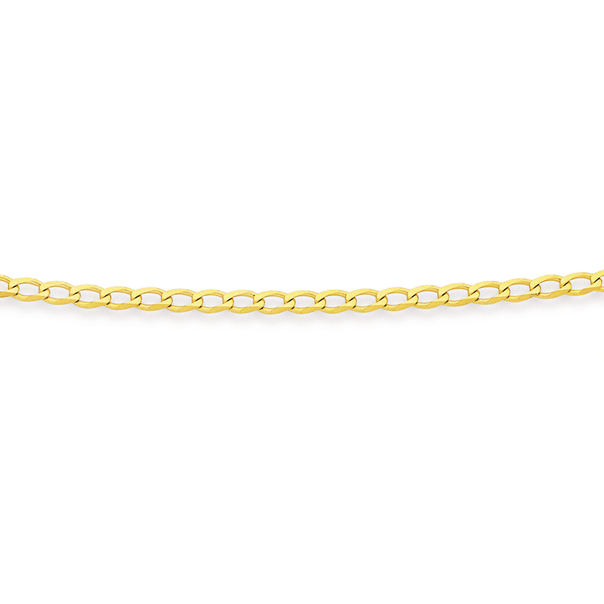 9ct Gold 45cm Solid Curb Chain