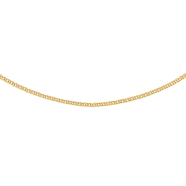 9ct Gold 45cm Solid Double Curb Chain