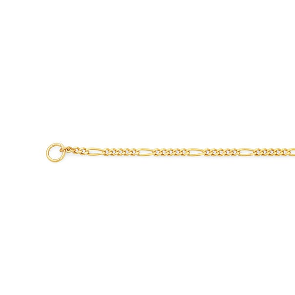 9ct Gold 45cm Solid Figaro 5+1 Chain