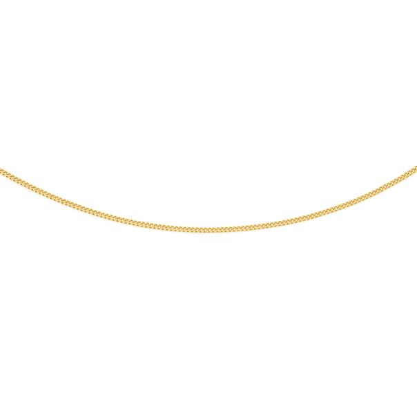 9ct Gold 45cm Solid Fine Curb Chain