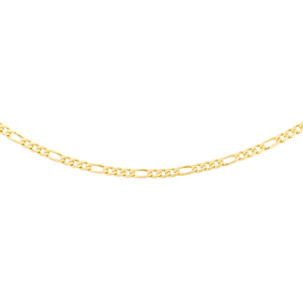 9ct Gold 45cm Solid Marine 1+1 Chain