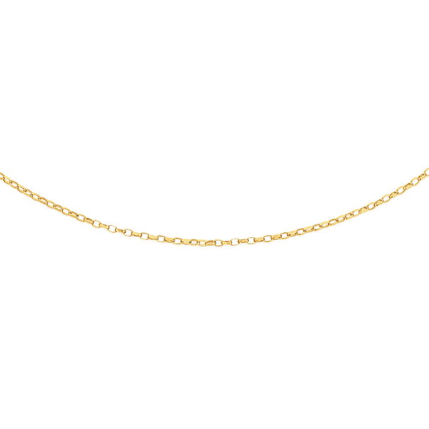 9ct Gold 45cm Solid Oval Belcher Chain