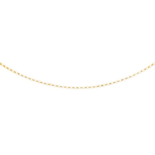 9ct Gold 45cm Solid Round Belcher Chain