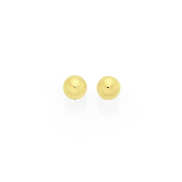 9ct Gold 4mm Polished Ball Stud Earrings