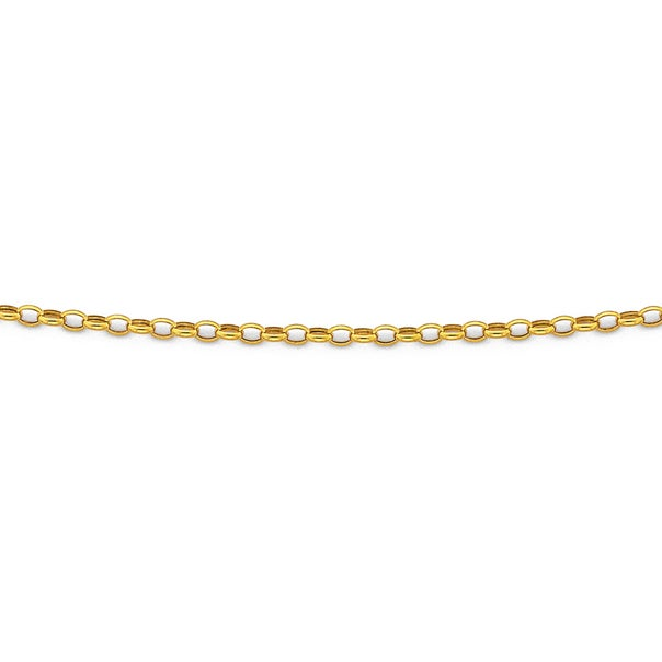9ct Gold 50cm Hollow Oval Belcher Chain