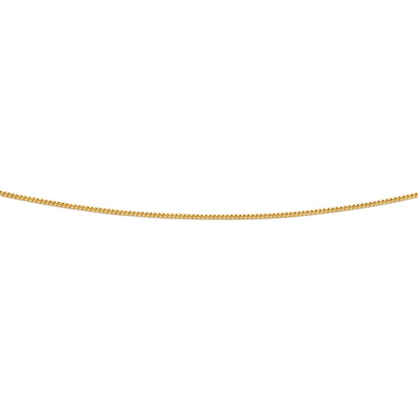 9ct Gold 50cm Solid Curb Chain