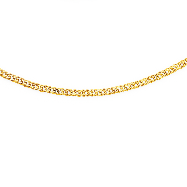 9ct Gold 50cm Solid Double Curb Chain