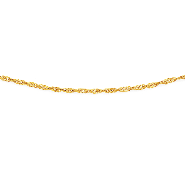9ct Gold 50cm Solid Singapore Chain