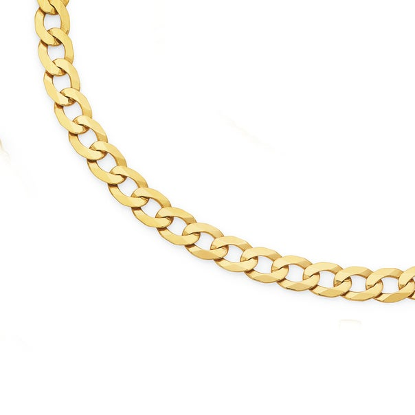9ct Gold 55cm Solid Curb Chain