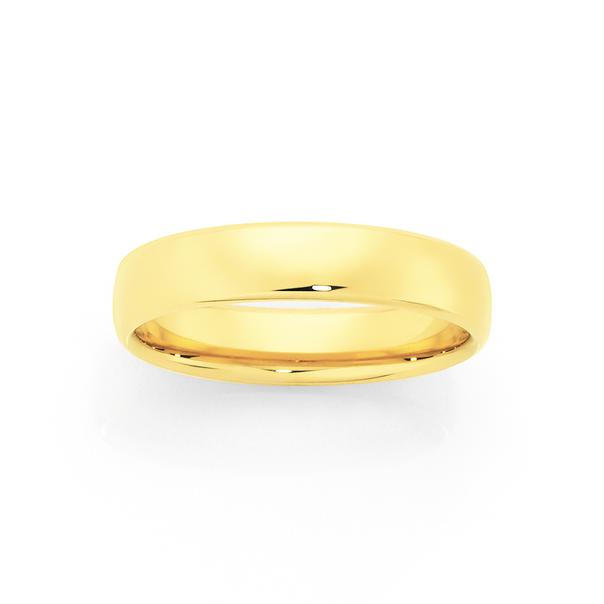 9ct Gold 5mm Comfort Wedding Ring - Size V