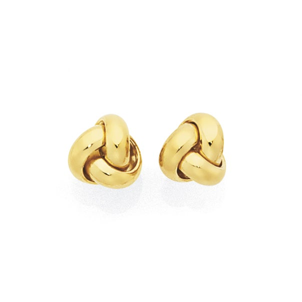 9ct Gold 5mm Love Knot Stud Earrings