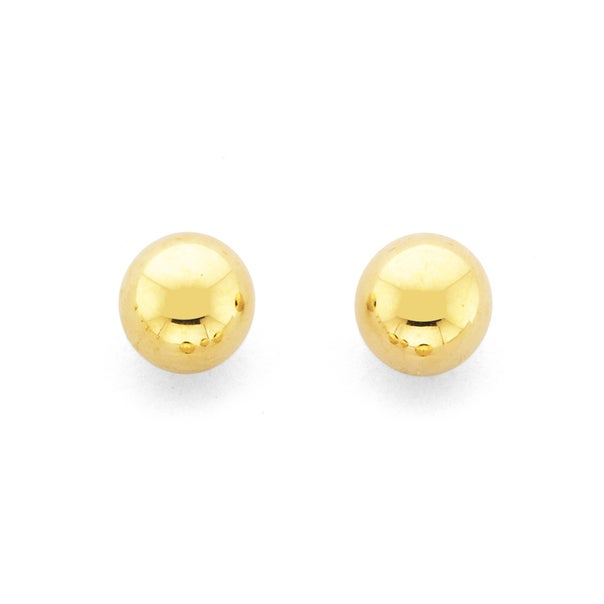 9ct Gold 5mm Polished Ball Stud Earrings