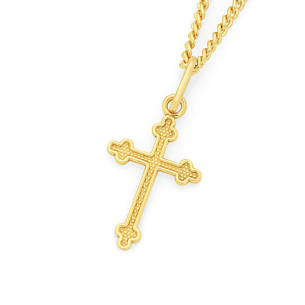 9ct Gold Children's Celtic Cross Pendant