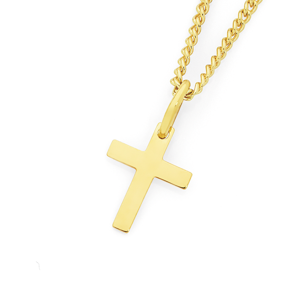 9ct Gold Children's Cross Pendant