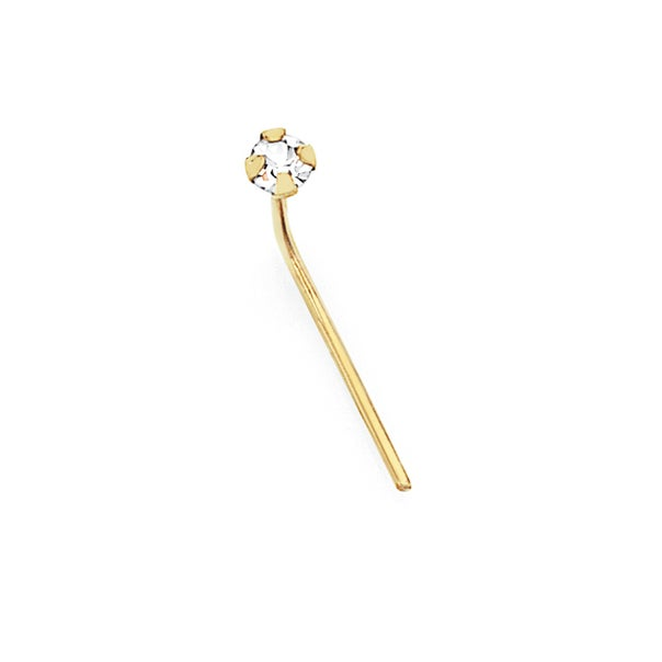 9ct Gold Crystal Nose Stud