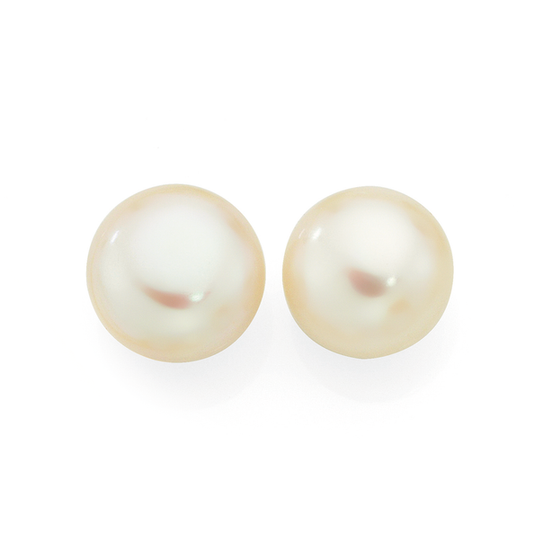 9ct Gold Cultured Fresh Water Pearl Studs