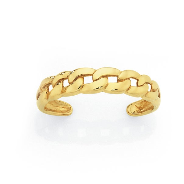 9ct Gold Curb Toe Ring
