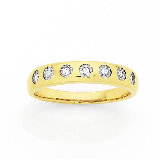 9ct Gold Diamond Anniversary Ring
