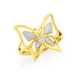 9ct Gold Diamond Butterfly Ring