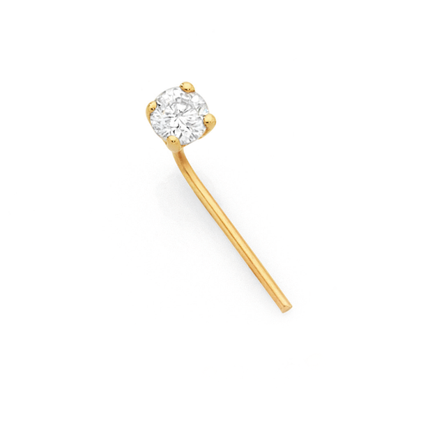 9ct Gold Diamond Set Nose Stud