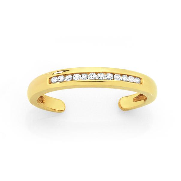 9ct Gold Diamond Set Toe Ring
