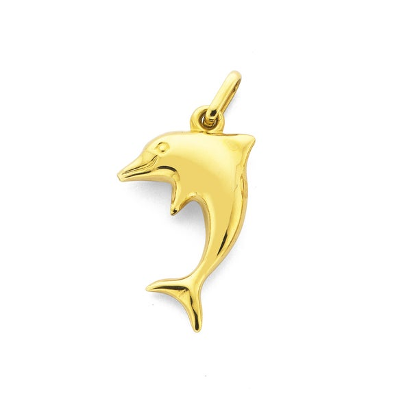 9ct Gold Dolphin Charm