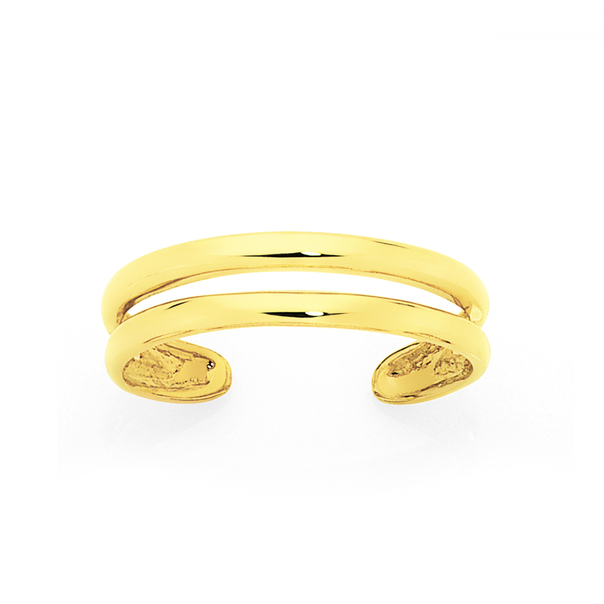 9ct Gold Double Band Toe Ring