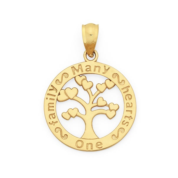 9ct Gold Family Tree Pendant