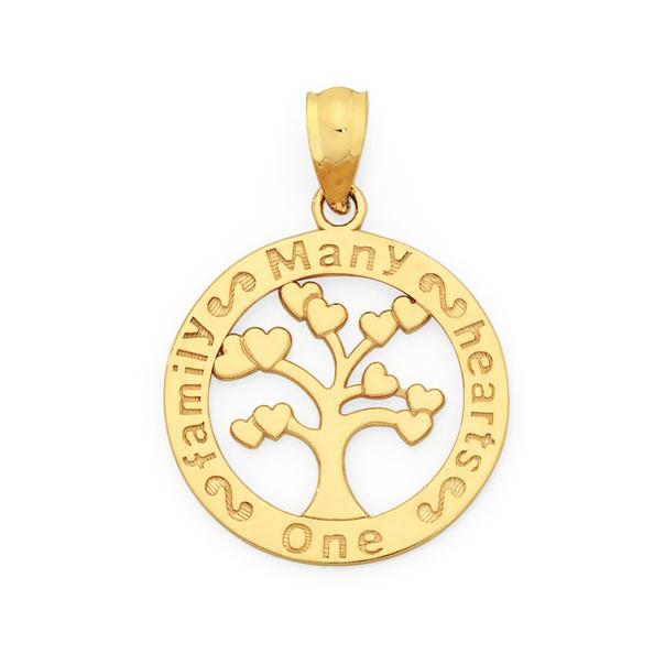 9ct Gold Family Tree Pendant