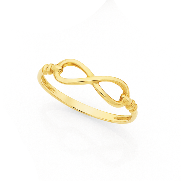 9ct Gold Fine Infinity Dress Ring