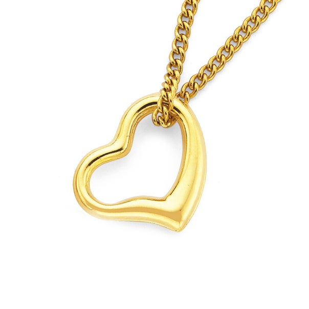 9ct Gold Floating Heart Pendant