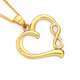 9ct Gold Heart Pendant with Infinity