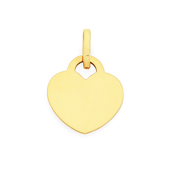 9ct Gold Heart Tag Pendant