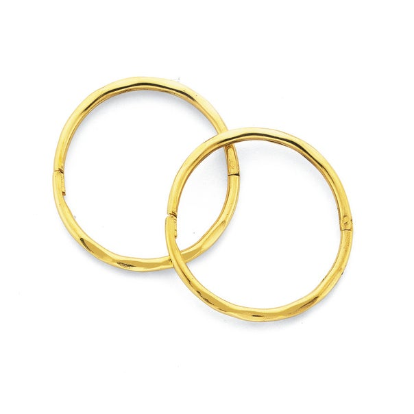 9ct Gold Large Facet Sleepers