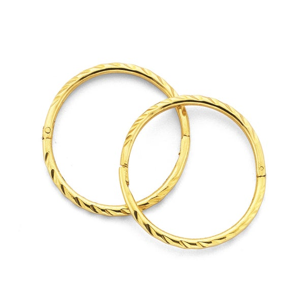 9ct Gold Large Twist Sleepers