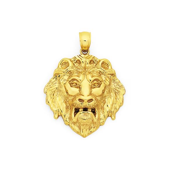 9ct Gold Lion Head Pendant
