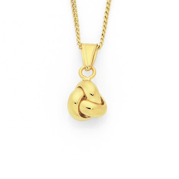 9ct Gold Love Knot Pendant