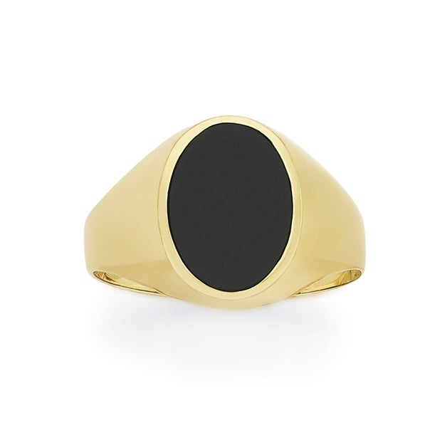 9ct Gold Onyx Gents Signet Ring