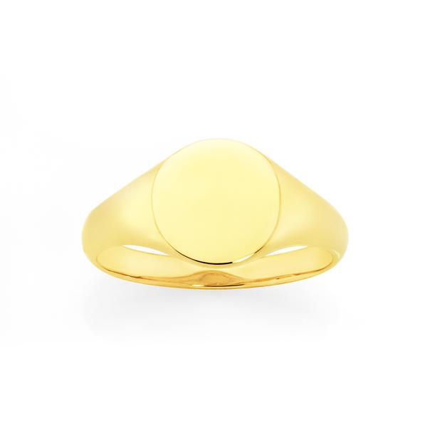 9ct Gold Round Signet Ring